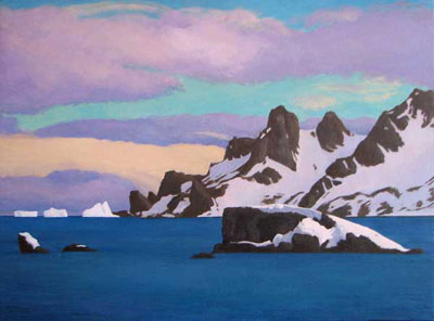 Antarctica Paintings Gregory Frux Artist